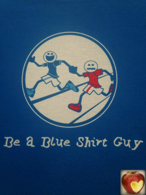 Blue shirt guy medium